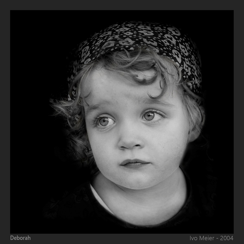 Portrait of a Kid in black and white